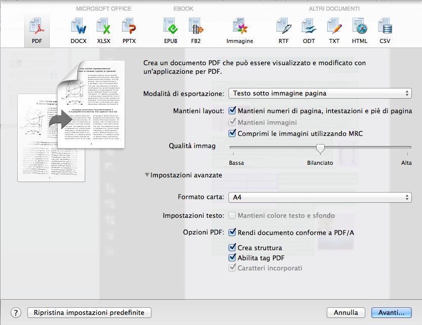 Convertire i documenti in file PDF per l'archiviazione e la condivisione