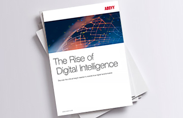 "logo for ABBYY whitepaper ""The Rise of Digital Intelligence"""