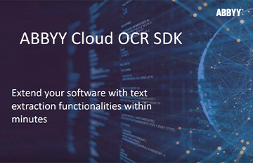 Integrate Cloud-based OCR into your applications