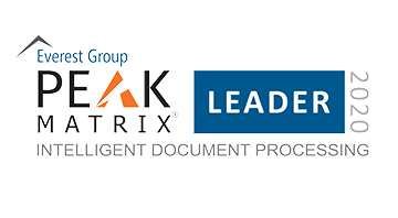 Everest Group PEAK Matrix™ 2019 sobre productos inteligentes de procesamiento de documentos.
