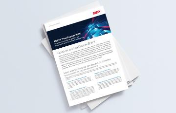 ABBYY FlexiCapture SDK - Brochure PDF