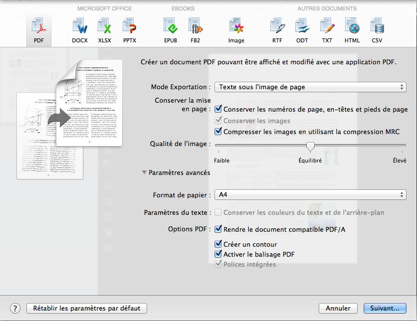 Convertissez au format PDF pour un archivage et un partage fiable